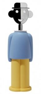 Штопор механический Alessi 'Alessandro M.' желтый/голубой (AAM23 LAZ)