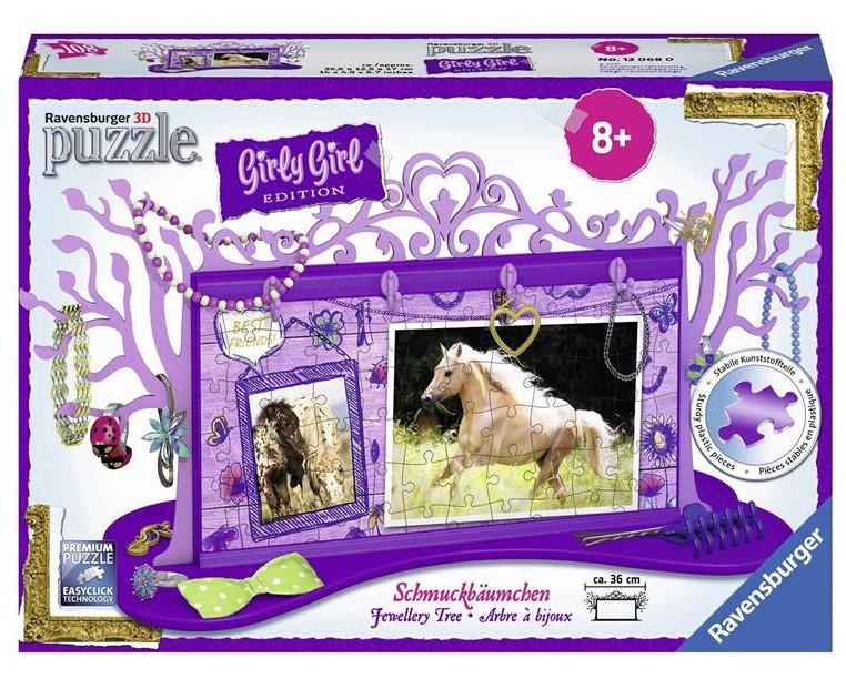Купить 3D пазл Girly Girl 'Подставка для украшений Лошади' (RSV-120680), Ravensburger