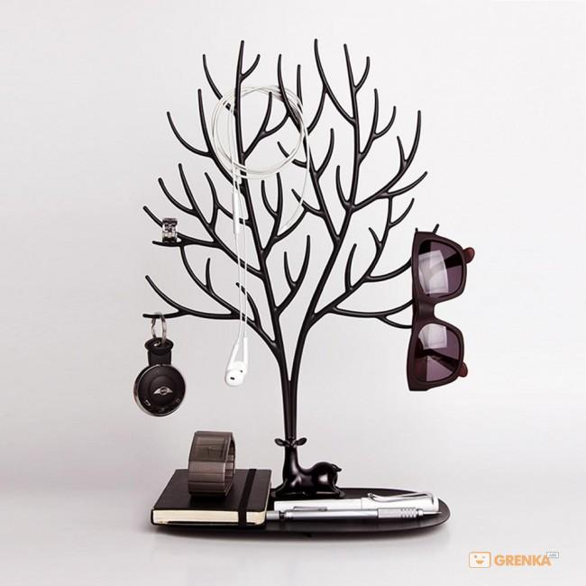 Купить Органайзер для украшений и аксессуаров Qualy 'My Deer Tray' черный (QL10172-BK)