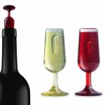 Набор стопперов для бутылок Qualy 'T-Vin' (QL10032)