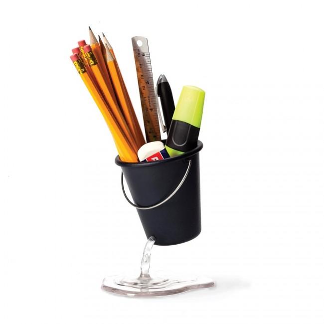Подставка для канцелярских принадлежностей Peleg Design 'Desk Bucket' черная (PE922)