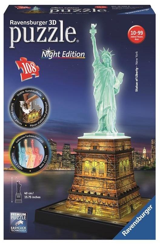 Купить 3D-пазл Ravensburger 'Статуя Свободы. Ночная версия' (RSV-125968)