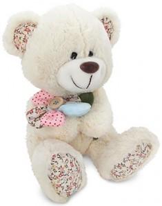 Мягкая музыкальная игрушка 'Медвежонок с декоративным цветком'
