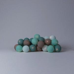фото Хлопковая гирлянда Cotton Ball Lights Aqua (35 шариков) #2
