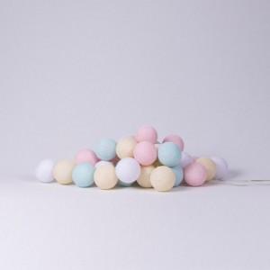 Подарок Хлопковая гирлянда Cotton Ball Lights Pastel (20 шариков)