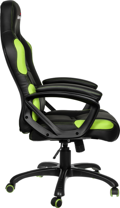 Геймерское кресло AeroCool C80 Comfort Gaming Chair (Black/Green)