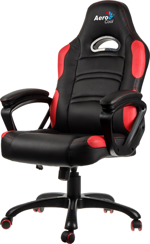 Геймерское кресло AeroCool C80 Comfort Gaming Chair (Black/Red)