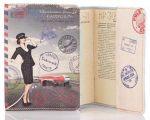 Подарок Обложка на паспорт из мягкой кожи 'Ukrainian tourist Passport'