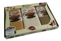 Подарок Набор вафельных полотенец Lotus 'Coffee' 45х70 (3 шт)