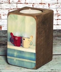 Подарок Подсвечник 'Чашка чая'