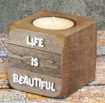 Подарок Подсвечник 'Жизнь прекрасна'