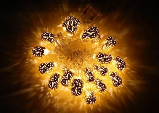 Купить Гирлянда 'Цилиндр Золото' LED 20, China Factory