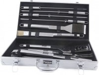 Набор инструментов для барбекю Fissman 10 предметов, в чемодане