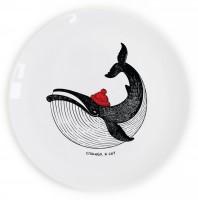 Подарок Тарелка 'Кит в шапке'