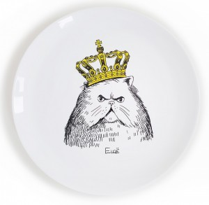Тарелка 'Кот в короне'