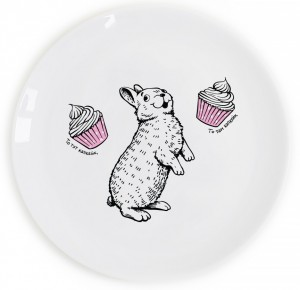 Подарок Тарелка 'Кролик и капкейк'