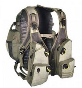 фото Жилет спиннингиста Golden Catch с рюкзаком бежевый #2