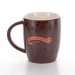 фото Шоколадная керамическая чашка с золотым принтом Starbucks #2