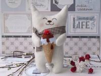 Подарок Подарочная игрушка 'Котик с мороженым'