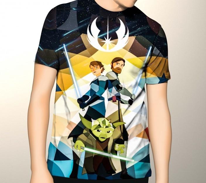 Купить Дизайнерская футболка 'Star Wars. Clone Wars. Jedi', Risha Myasov