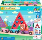 Деревянный магнитный конструктор Polytopia Стартовый набор 'Трыкутя в Треугольном городе' (70003)