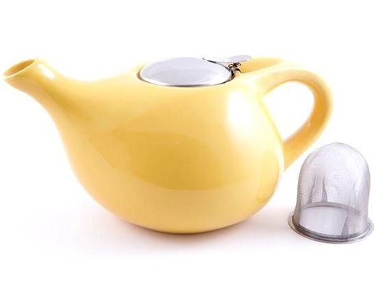 Купить Керамический заварочный чайник Fissman 1, 3л (TP-9203.1300) желтый