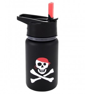Подарок Бутылка Eco Vessel Scout Kids Stainless Steel Water Bottle Black with Pirate 400 мл