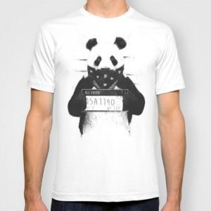 Подарок Дизайнерская футболка 'Bad panda'