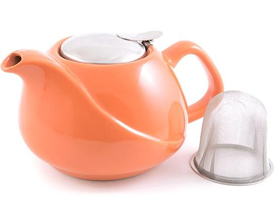 Купить Керамический заварочный чайник Fissman 750мл (TP-9205.750) оранжевый