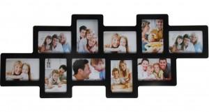 Подарок Мультирамка для фото Angel Gifts 10 в 1 (BIN-112122(b)) черная