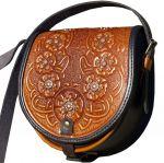 Подарок Женская сумка 'Горные маки' из натуральной кожи