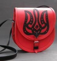 Подарок Женская сумка 'Красная калина' из натуральной кожи