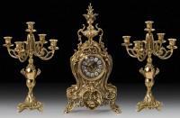 Подарок Набор: часы с двумя канделябрами на 5 свечей Virtus (5156-4029)