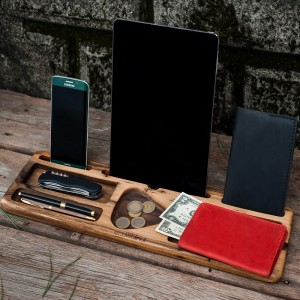 Подарок Деревянный аксессуар 'Настольный органайзер'