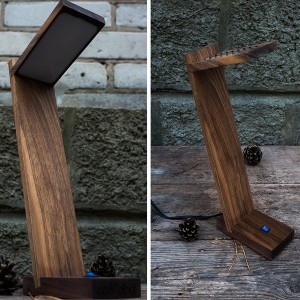 Подарок Деревянный аксессуар 'Деревянная лампа'