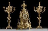 Подарок Набор: часы с двумя канделябрами на 5 свечей Virtus (5817-54061)