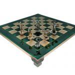 Шахматы 'Геркулес и Полубоги Олимпа' в деревянном футляре зеленые (S7GREEN)