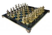Шахматы 'Мушкетеры' в деревянном футляре синие (S12BLU)