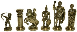 фото Шахматы 'Римляне' в деревянном футляре синие (S10BLU) #4