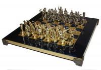 Шахматы 'Римляне' в деревянном футляре синие (S10BLU)