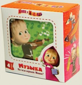 Кубики Маша и Медведь 'На чем играет Маша' (MM-902)