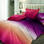 Постельное белье Унисон Сатин №1 Коллекция Омбре Luxury, двуспальное, дизайн 11998 вид 28 Огненный рассвет