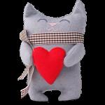 Подарок Подарочная игрушка 'Кот с сердцем'