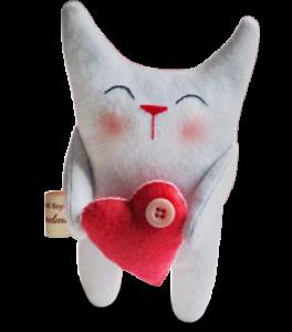 Подарочная игрушка 'Котенок с сердцем'