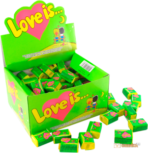 фото Супер подарок Любимой: игрушка + блок жвачек 'Love is...' #4