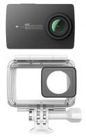 Экшн-камера Xiaomi Yi 4K Black International Edition + Waterproof box (Р28383)