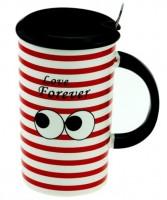 Подарок Чашка с глазами (красная)