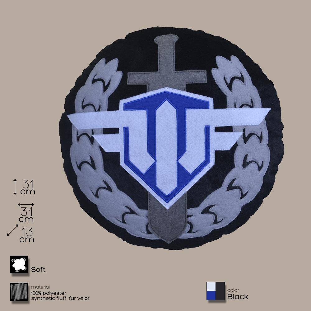Купить Декоративная подушка, лого игры 'World of Warplanes', круглая.(WG043332), World of Tanks