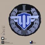 Декоративная подушка, лого игры 'World of Warplanes', круглая.(WG043332)