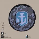 Декоративная подушка, лого игры 'World of Warships', круглая (WG043331)